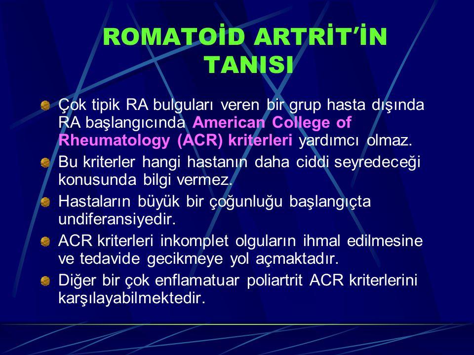 ROMATOİD ARTRİT'İN TANISI