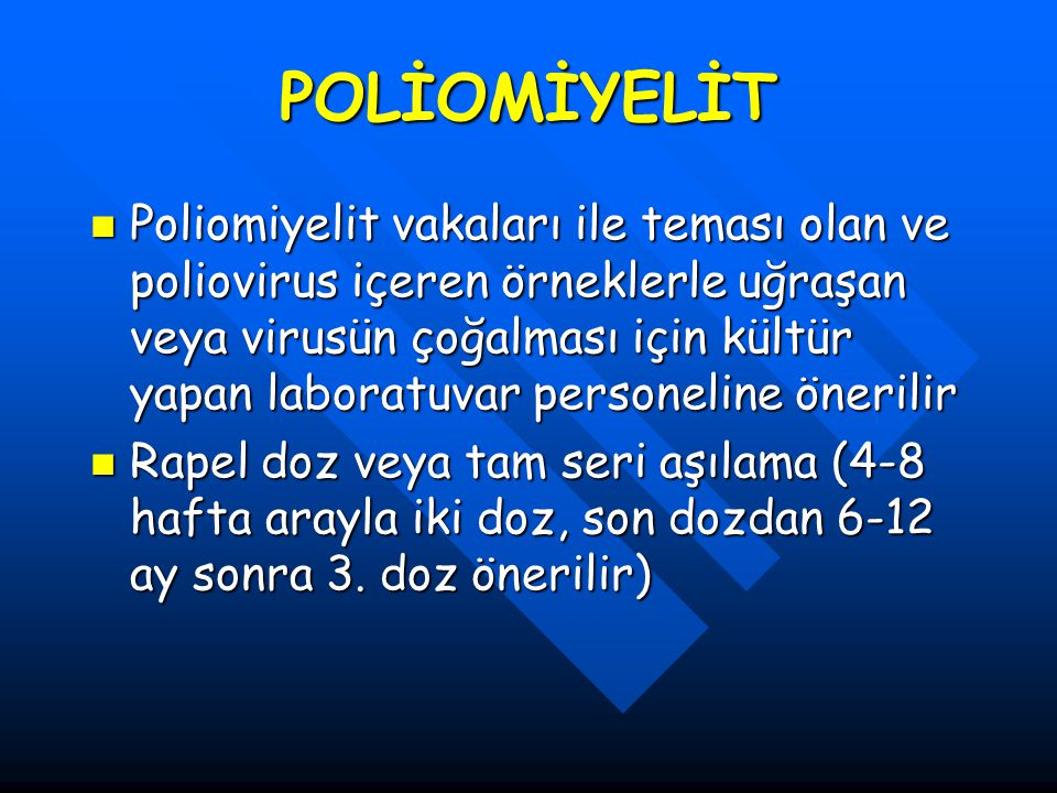 POLİOMİYELİT