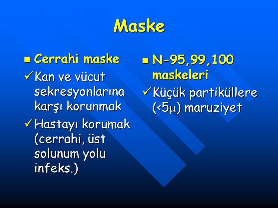 Maske Cerrahi maske N-95,99,100 maskeleri