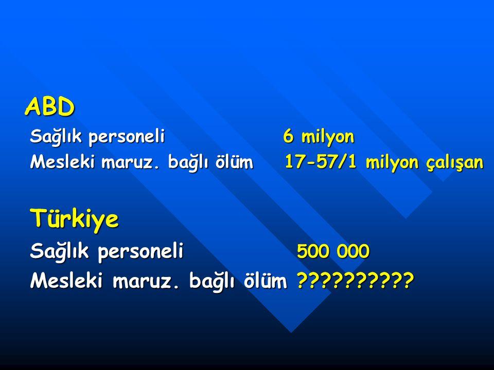 ABD Türkiye Sağlık personeli 500 000