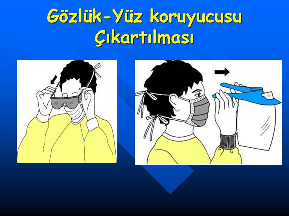 Gözlük-Yüz koruyucusu Çıkartılması