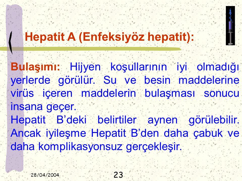 Hepatit A (Enfeksiyöz hepatit):