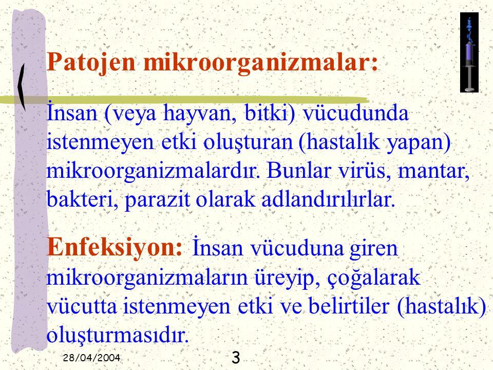 Patojen mikroorganizmalar: