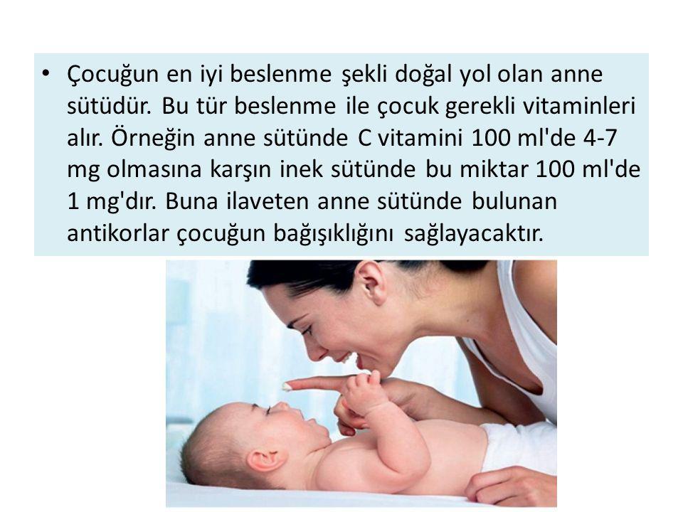 Çocuğun en iyi beslenme şekli doğal yol olan anne sütüdür