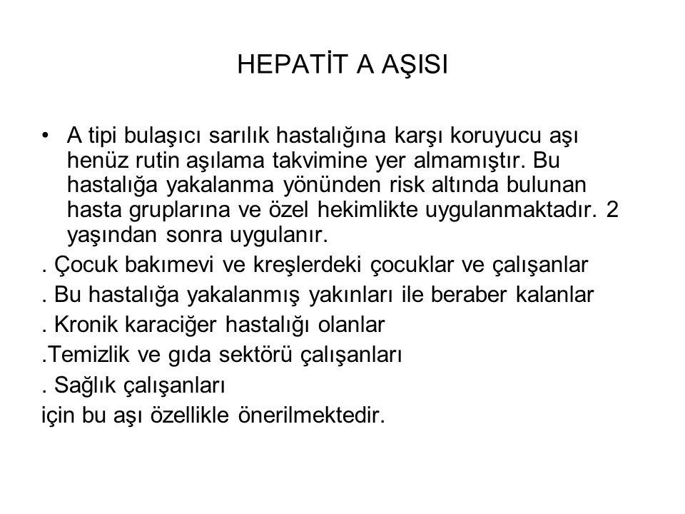 HEPATİT A AŞISI