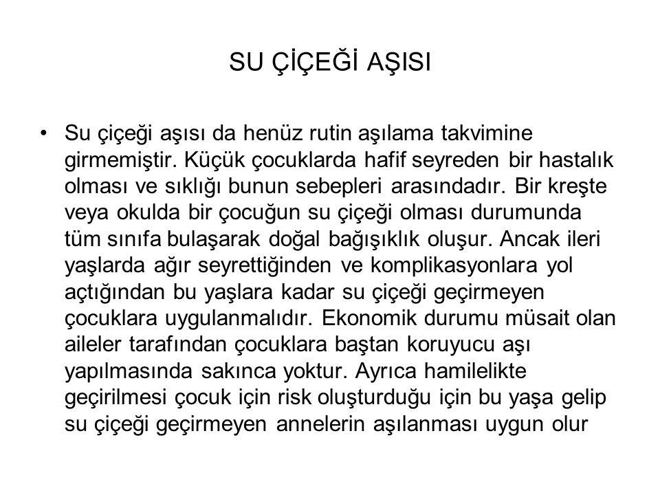 SU ÇİÇEĞİ AŞISI