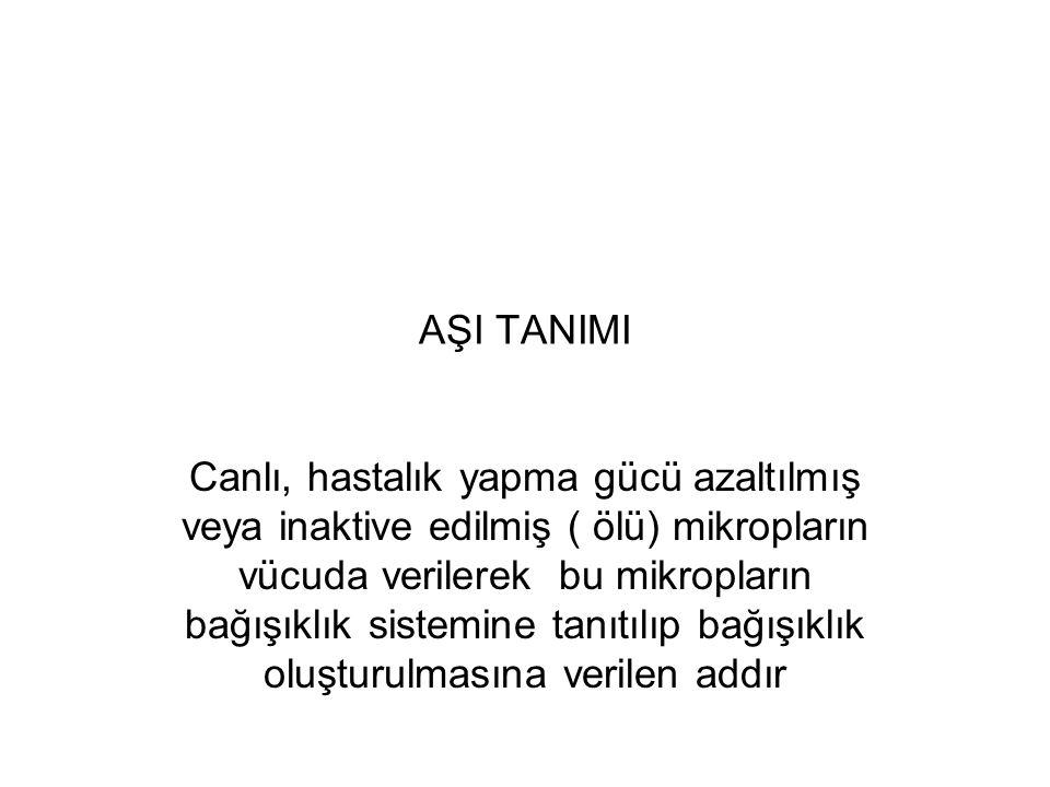 AŞI TANIMI