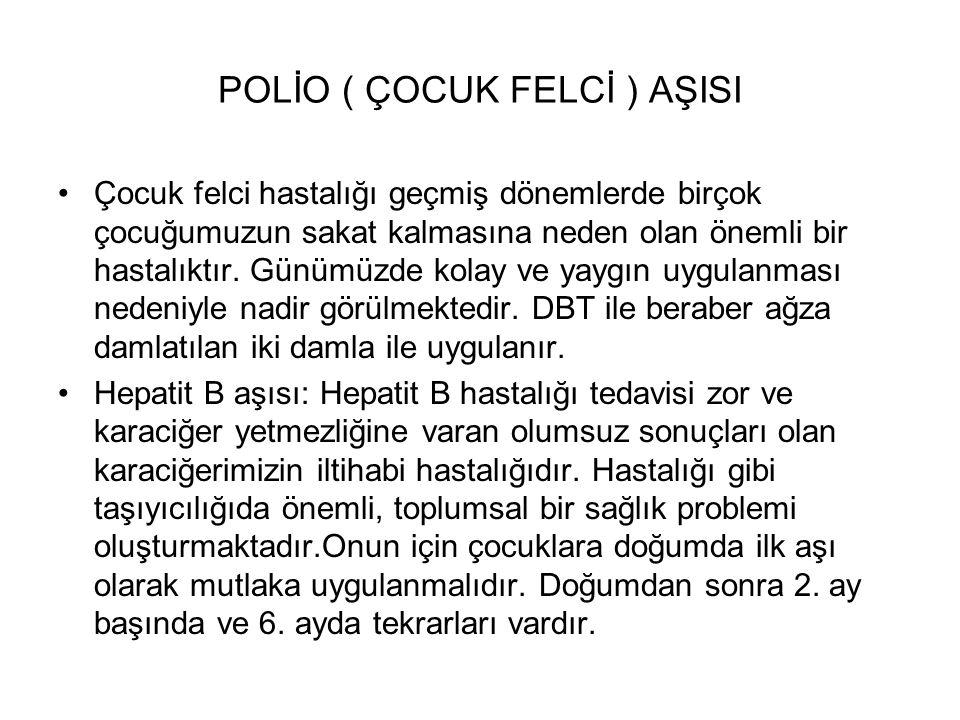 POLİO ( ÇOCUK FELCİ ) AŞISI