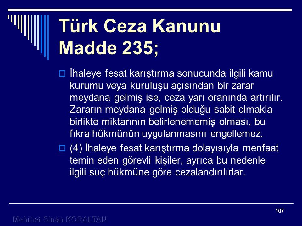 Türk Ceza Kanunu Madde 235;