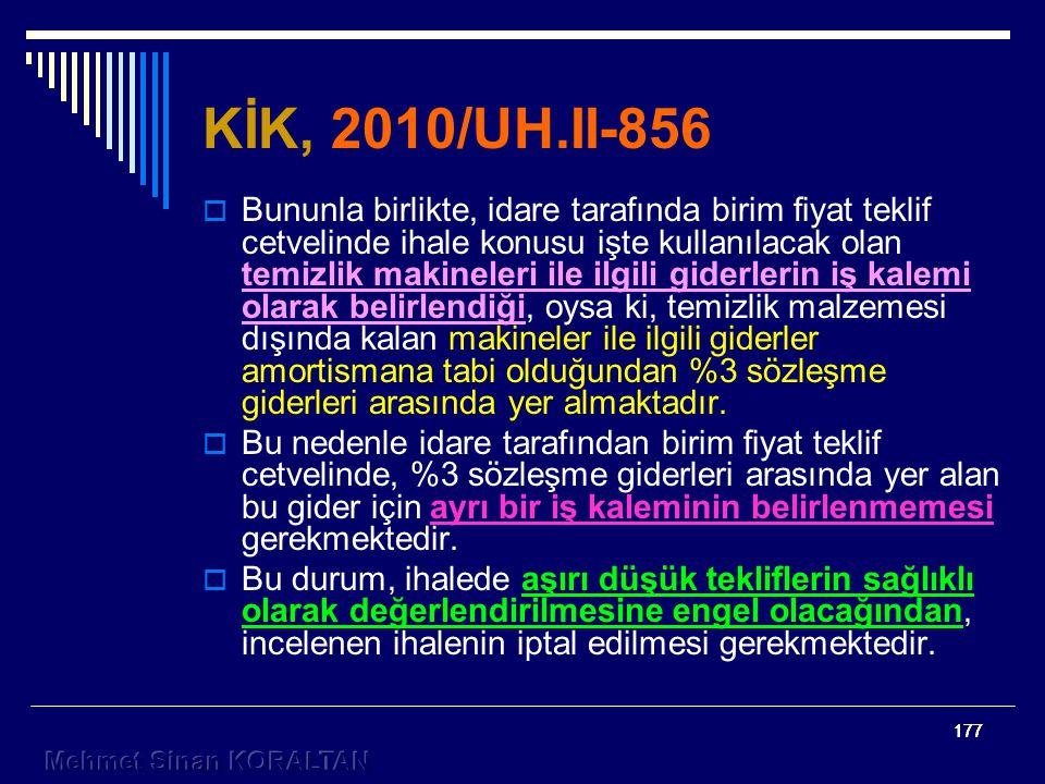 KİK, 2010/UH.II-856