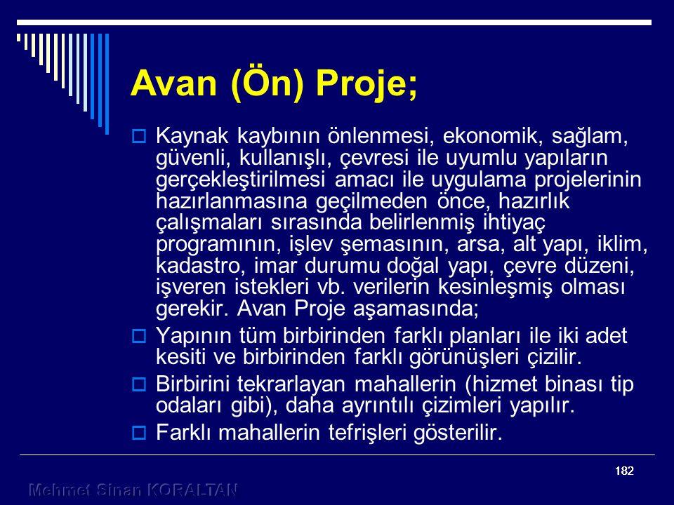 Avan (Ön) Proje;