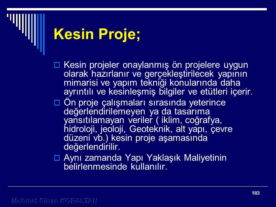Kesin Proje;