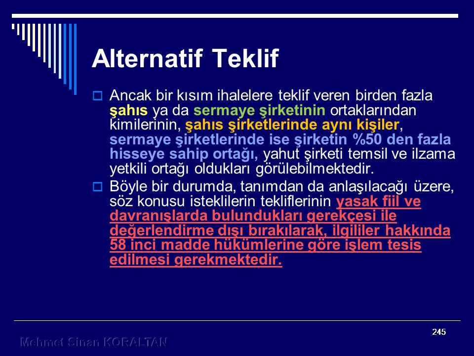 Alternatif Teklif