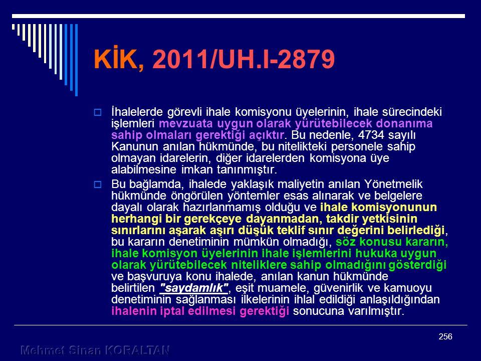 KİK, 2011/UH.I-2879