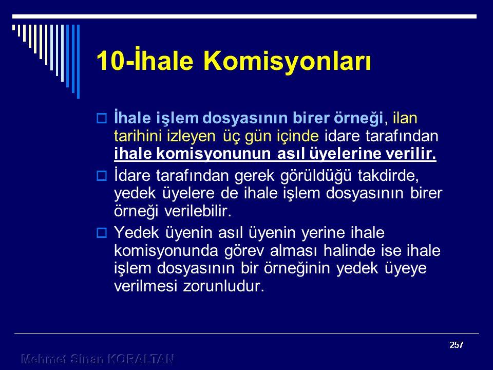 10-İhale Komisyonları