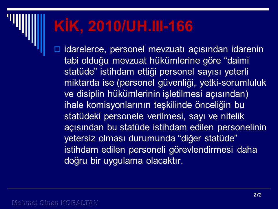 KİK, 2010/UH.III-166