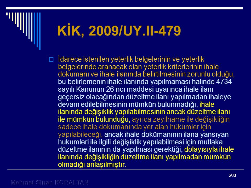 KİK, 2009/UY.II-479