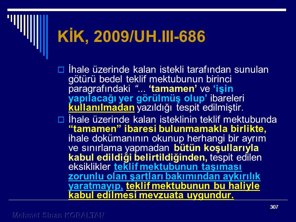KİK, 2009/UH.III-686
