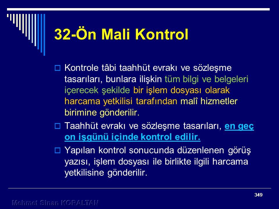 32-Ön Mali Kontrol