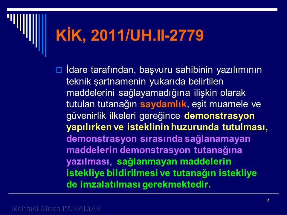 KİK, 2011/UH.II-2779