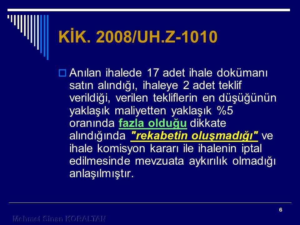 KİK. 2008/UH.Z-1010