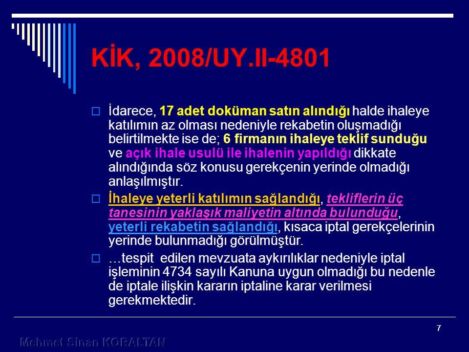 KİK, 2008/UY.II-4801