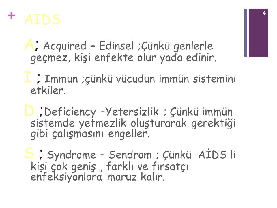 I ; Immun ;çünkü vücudun immün sistemini etkiler.
