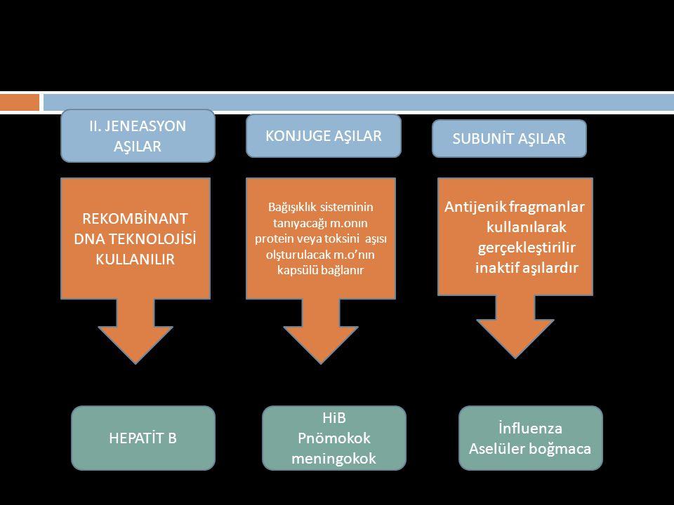 REKOMBİNANT DNA TEKNOLOJİSİ KULLANILIR