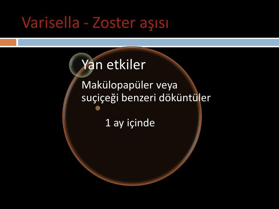 Varisella - Zoster aşısı