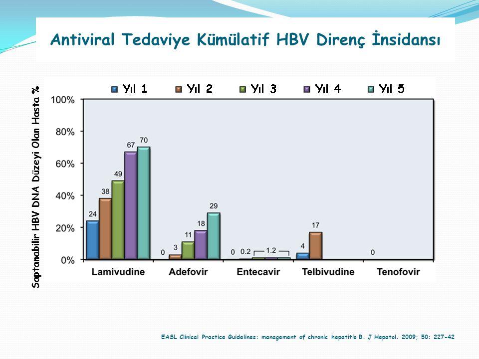 Antiviral Tedaviye Kümülatif HBV Direnç İnsidansı