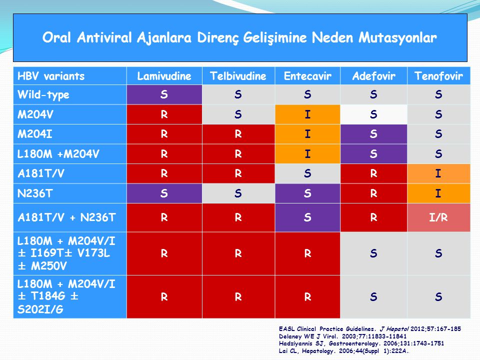 Oral Antiviral Ajanlara Direnç Gelişimine Neden Mutasyonlar