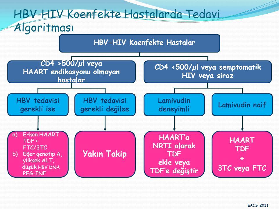HBV-HIV Koenfekte Hastalarda Tedavi Algoritması