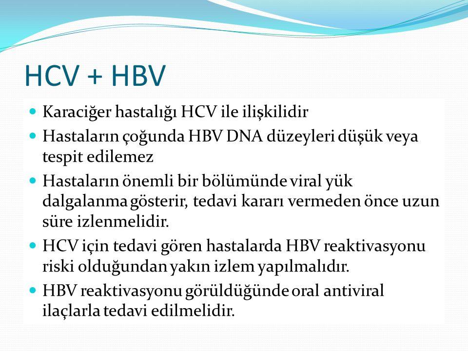 HCV + HBV Karaciğer hastalığı HCV ile ilişkilidir