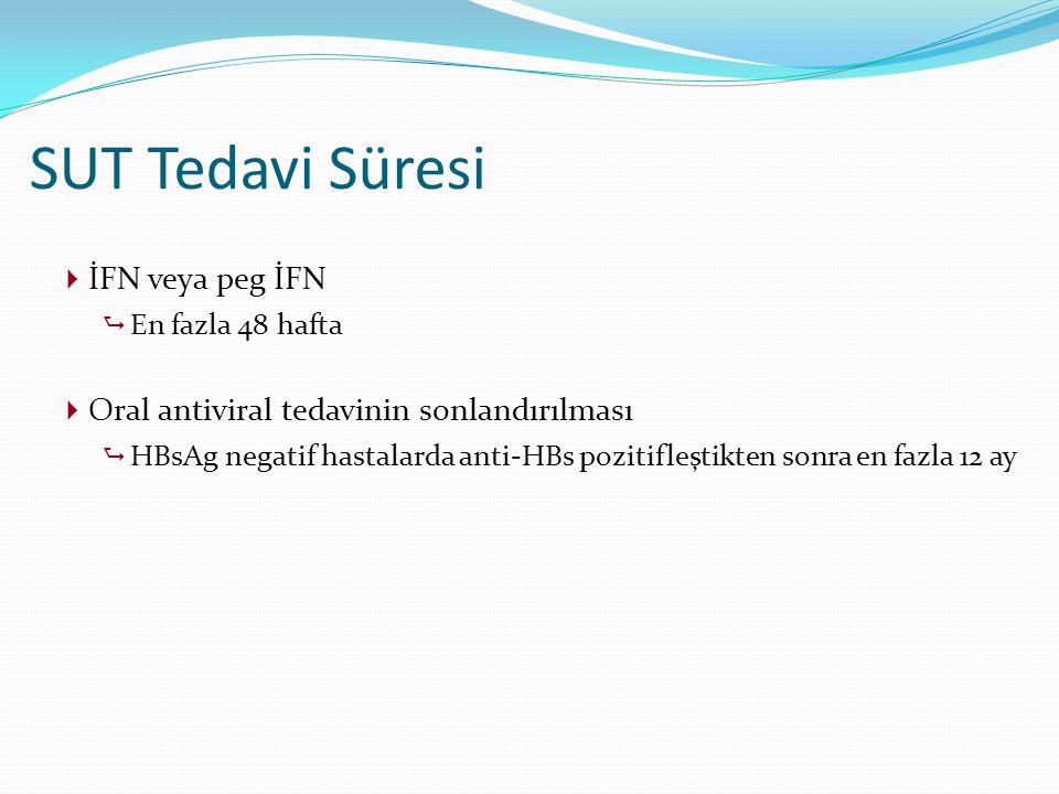 SUT Tedavi Süresi İFN veya peg İFN