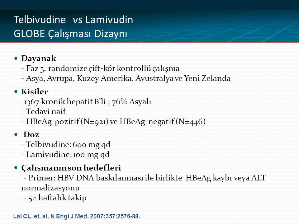 Telbivudine vs Lamivudin GLOBE Çalışması Dizaynı