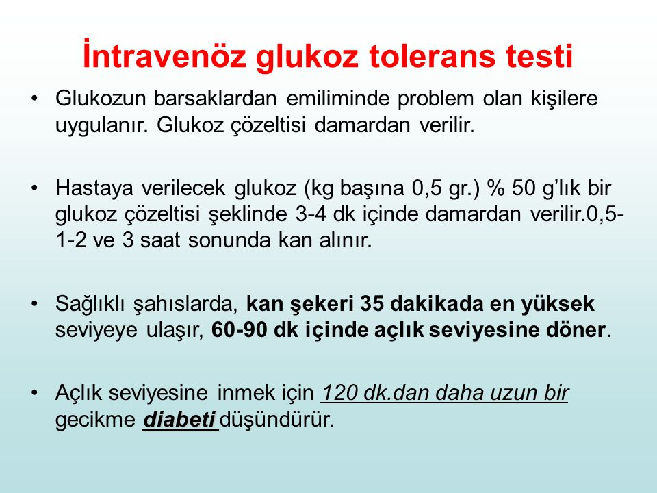 İntravenöz glukoz tolerans testi