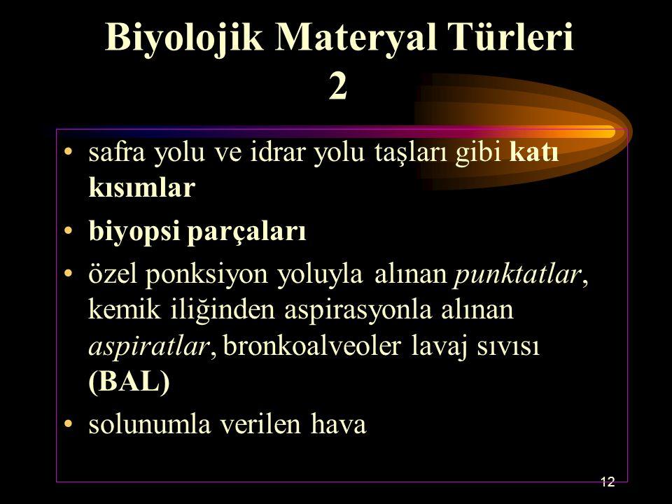 Biyolojik Materyal Türleri 2