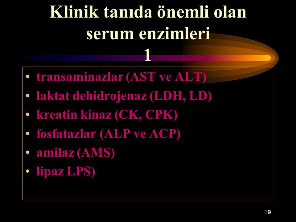 Klinik tanıda önemli olan serum enzimleri 1