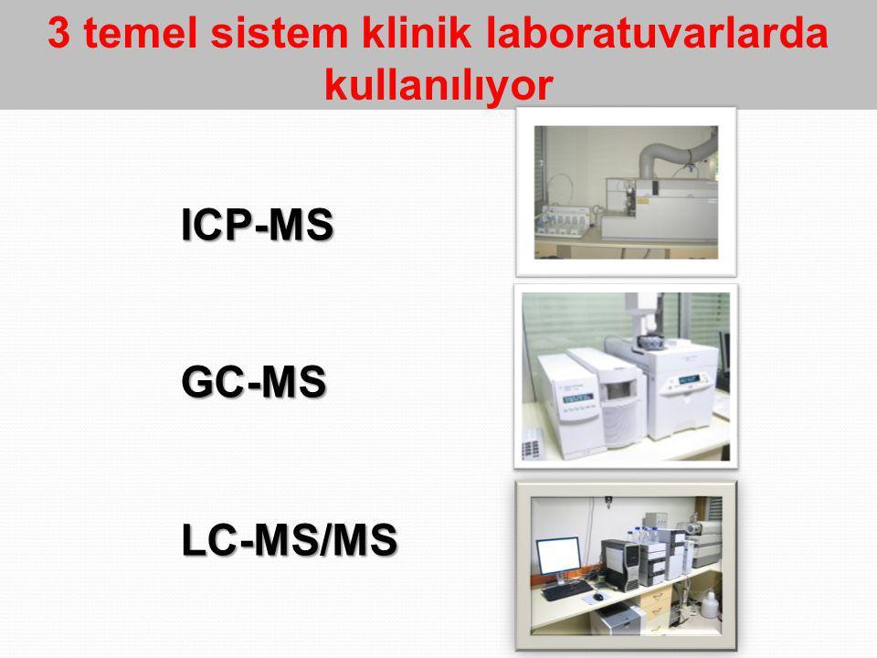 3 temel sistem klinik laboratuvarlarda kullanılıyor