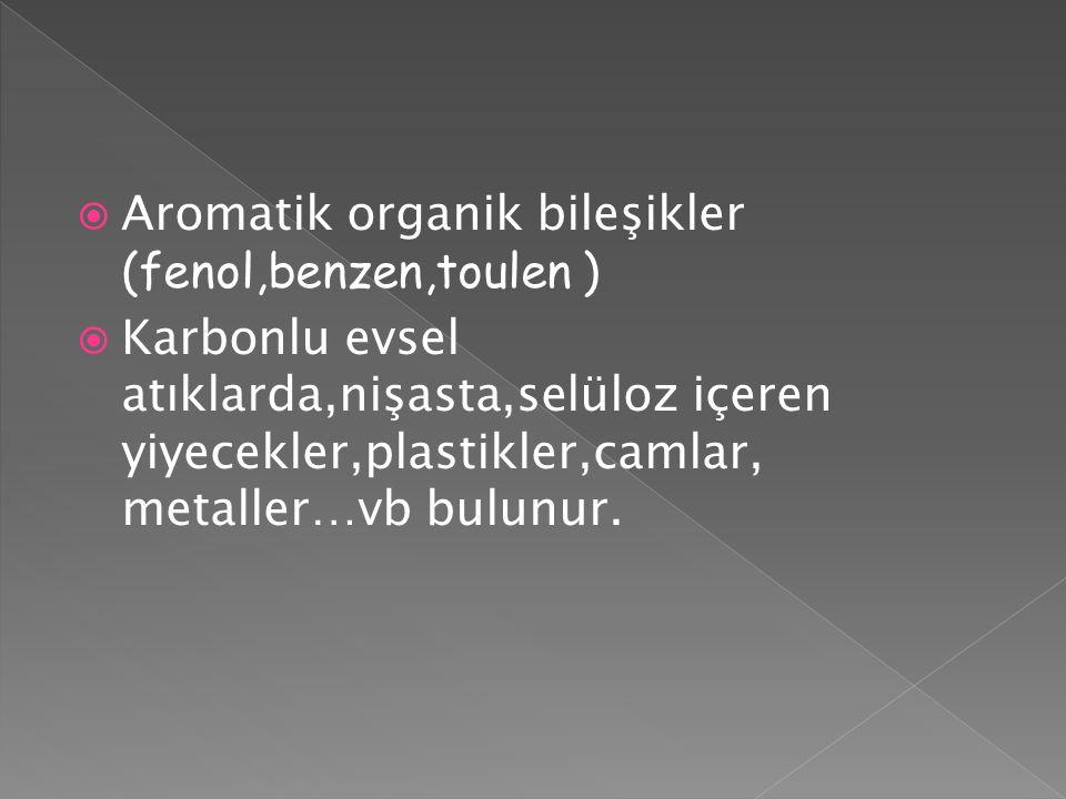 Aromatik organik bileşikler (fenol,benzen,toulen )