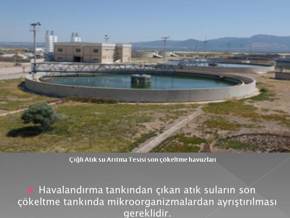 Çiğli Atık su Arıtma Tesisi son çökeltme havuzları