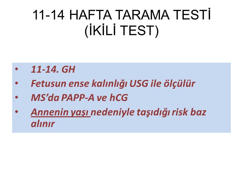 11-14 HAFTA TARAMA TESTİ (İKİLİ TEST)