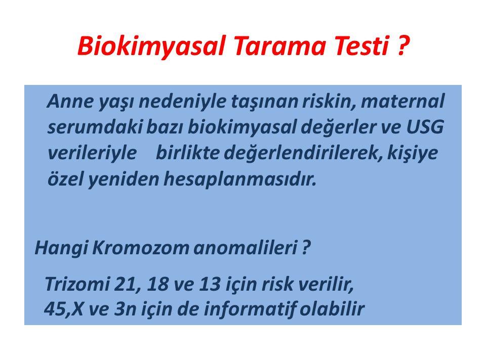 Biokimyasal Tarama Testi