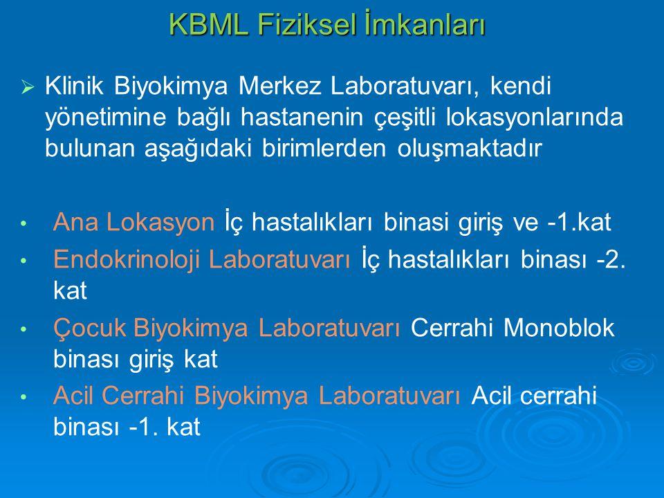 KBML Fiziksel İmkanları