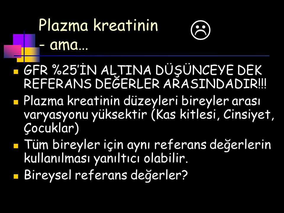 Plazma kreatinin - ama…