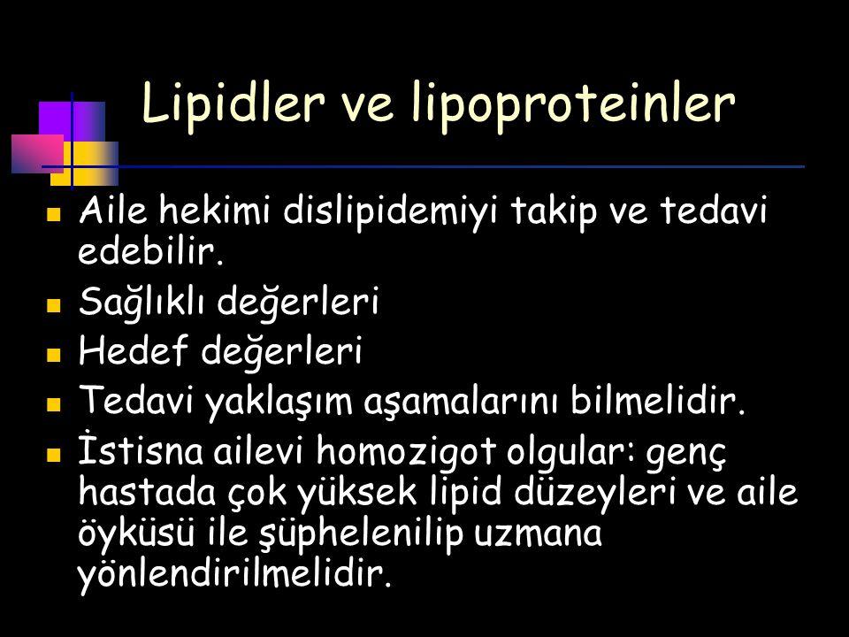 Lipidler ve lipoproteinler