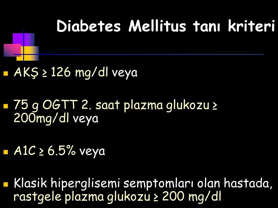 Diabetes Mellitus tanı kriteri