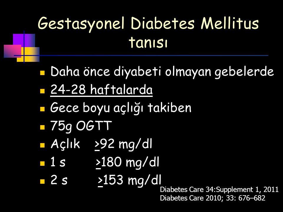 Gestasyonel Diabetes Mellitus tanısı