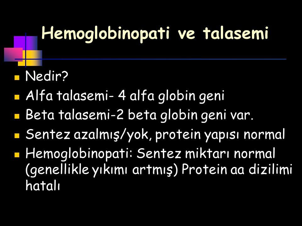 Hemoglobinopati ve talasemi