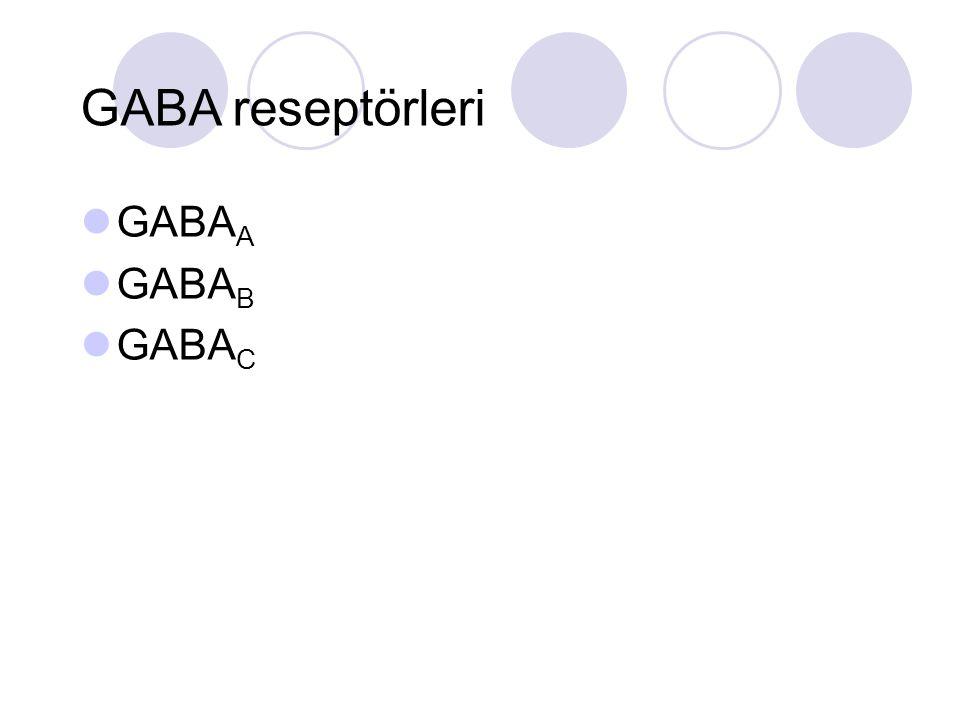 GABA reseptörleri GABAA GABAB GABAC